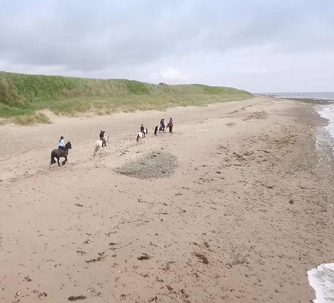 horseback riding on the beach Ireland