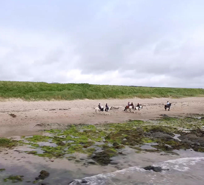 horseback riding on the beach Ireland