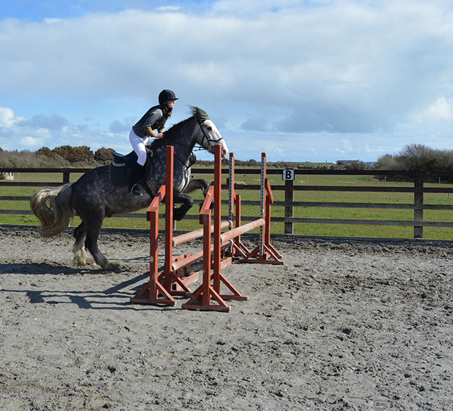 horse riding lessons-jumping